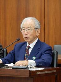 「リニアは本当に必要か」。と訴えた橋山氏(衆議院議員本村伸子事務所提供)